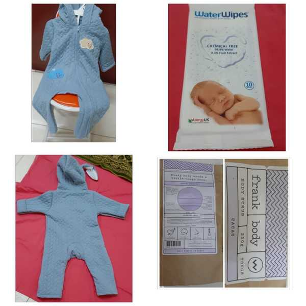 Used Baby cloth n baby wipes n body scrub in Dubai, UAE