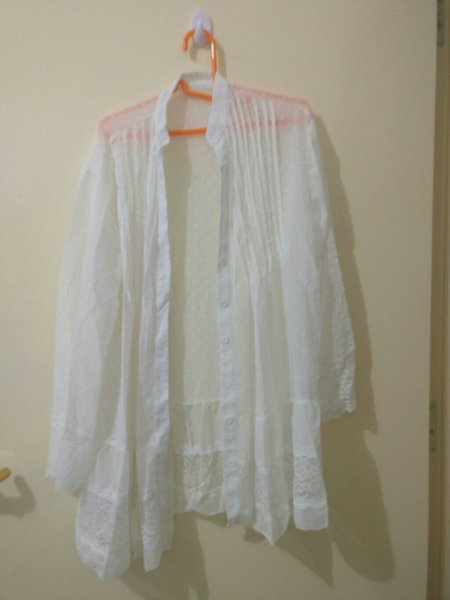 Used WHITE COVER-UP with BLUE SHORTS in Dubai, UAE