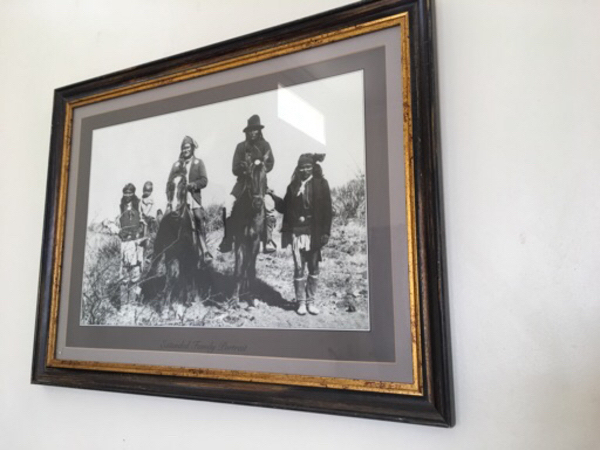 Used Framed picture Red Indian family in Dubai, UAE