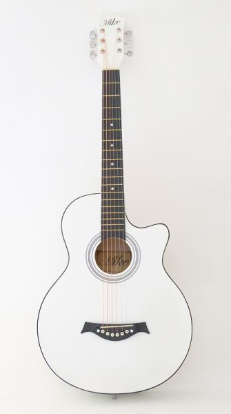 Used Brand New Acoustic Guitar- white in Dubai, UAE
