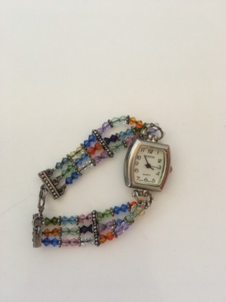 Used Handcrafted crystal bead watch in Dubai, UAE