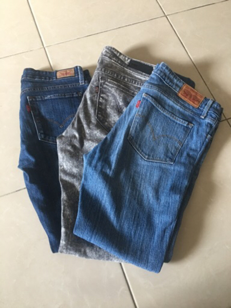 Used 3-levis skinny jeans size medium (28-29) in Dubai, UAE