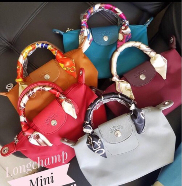 Used Mini Longchamp with Strap and Twilly in Dubai, UAE