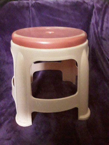 Used Rarely used pink colour stool in Dubai, UAE