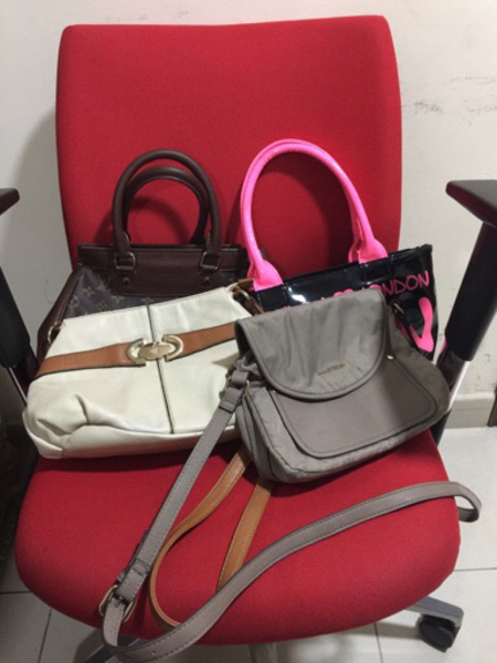 Used Two handbags and two sling bags preloved in Dubai, UAE