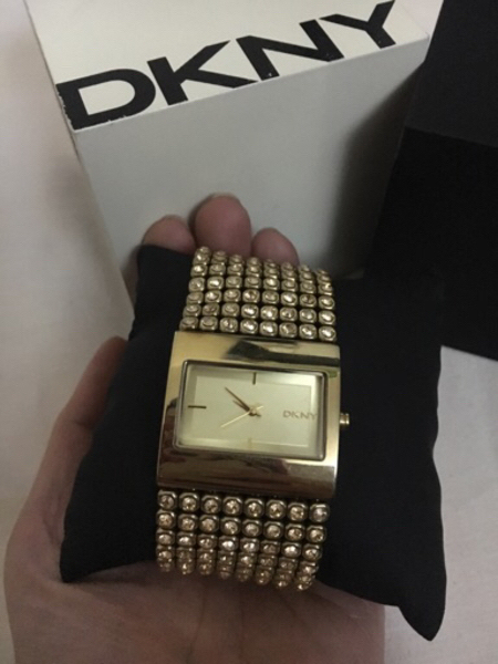 Used Original DKNY Gold Studded watch in Dubai, UAE