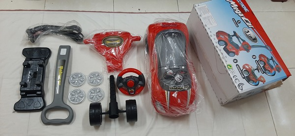 Used Mega car for your baby 3 in 1, red ! in Dubai, UAE