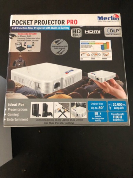 Used ORIGINAL new merlin mini projector in Dubai, UAE
