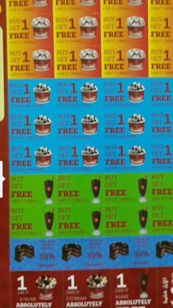 Used  cold stone vouchers buy one get one fre in Dubai, UAE