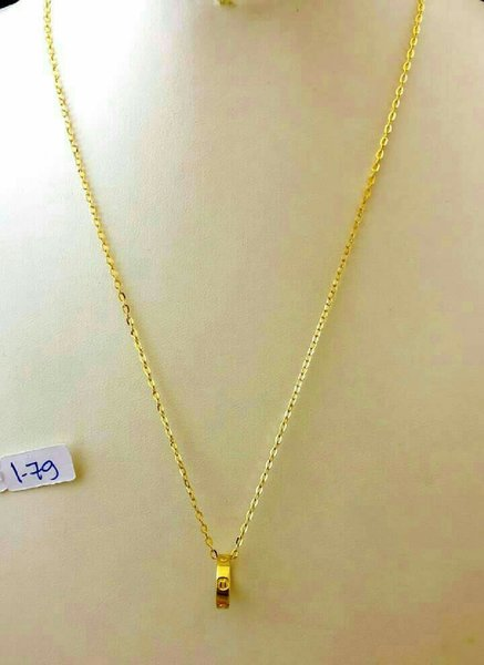 """Used Cartier Inspired Necklace 17"""" 18K Gold in Dubai, UAE"""