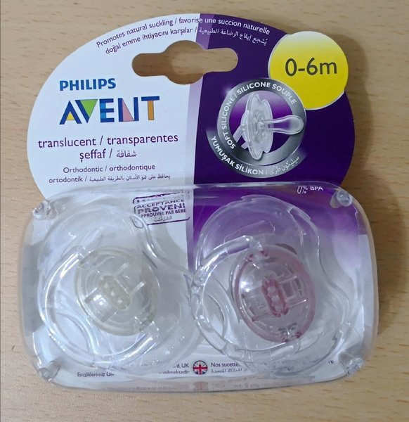 Used Avent Pacifier 2 piece in 1 pack in Dubai, UAE