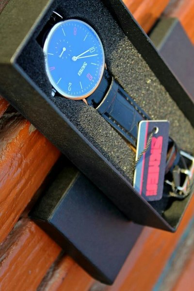 Used [Both Dial works] SKMEI Leather Watch Bl in Dubai, UAE