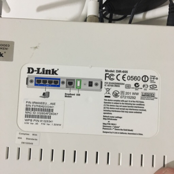 Used D-link wireless router DIR655 in Dubai, UAE