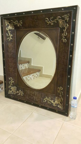 Used Real Wood Classic Mirror Size 100x84x7CM in Dubai, UAE