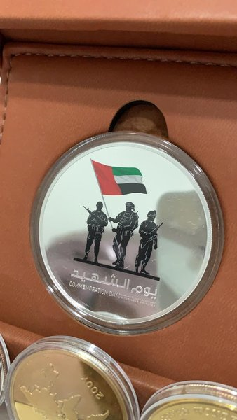 Used UAE martyrs day coin in Dubai, UAE