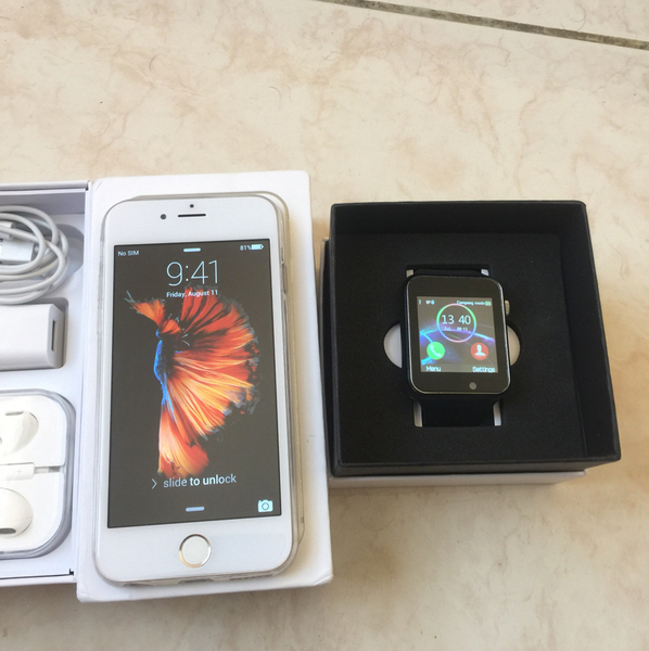 Used IPhone 6s 64 Fb Master Copy With Fantime SW08 Smart Watch  in Dubai, UAE