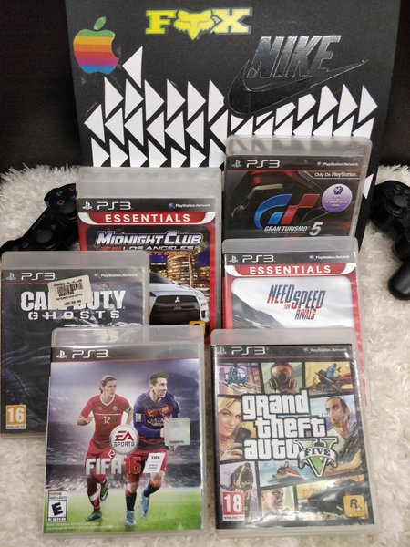 Used PS3+ 2 CONTROLLERS+ 6 GAMES in Dubai, UAE