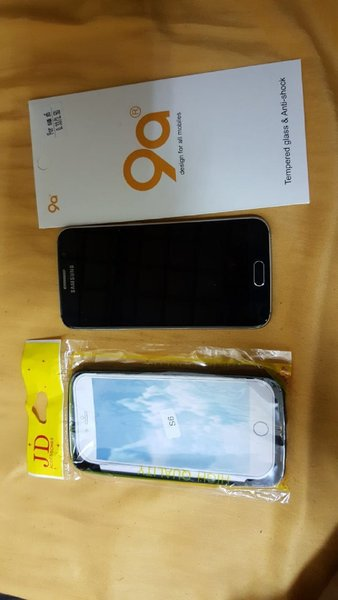 Used Samsung S6+ Accessories+ Glass+ Case!!!! in Dubai, UAE