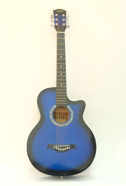 Used Brand New Acoustic Guitar- Blue in Dubai, UAE