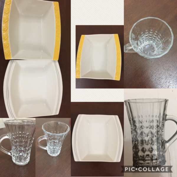 Used Elegant tea/qahwa cups6 & 2 Bowls@23Aed in Dubai, UAE