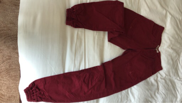 Cuffed Pants - RED/MAROON