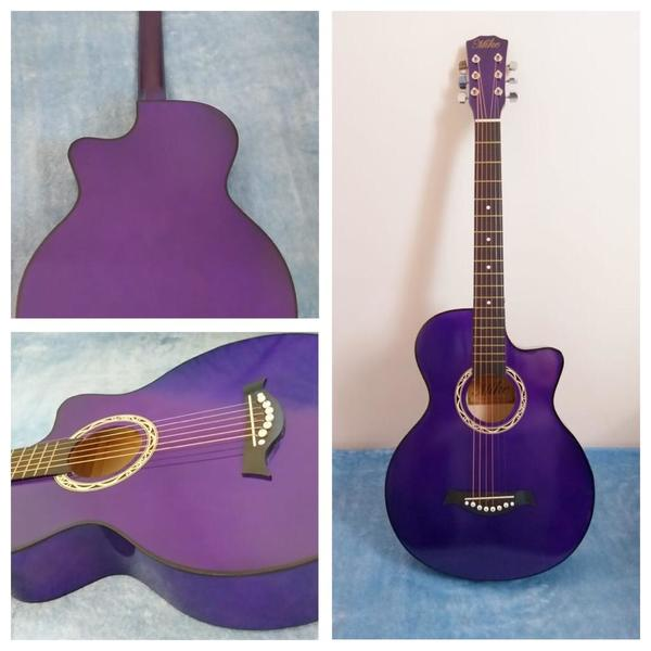 Used Brand new Acoustic Guitar- Purple in Dubai, UAE