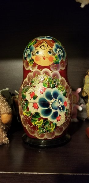 Used Russian Matryoshka doll souvenir in Dubai, UAE