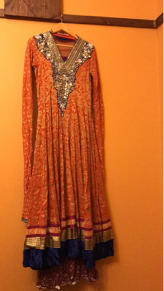 Used Designer piece crystal work front &back  in Dubai, UAE