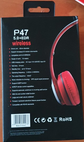 Used P47 red wireless headset...new.. in Dubai, UAE