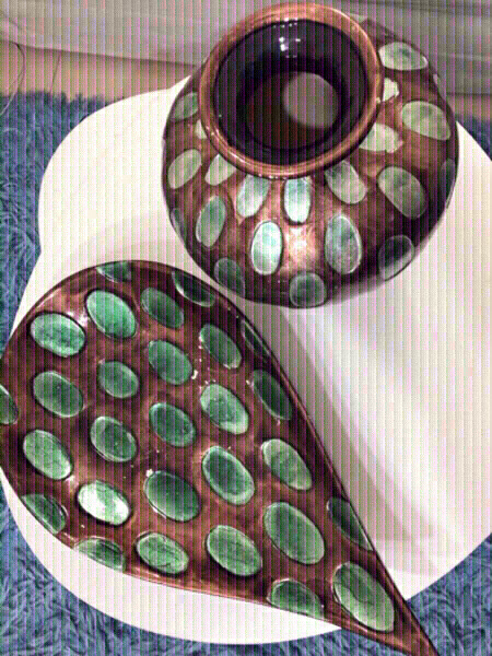 Used Decor Set! Stoneware! Hand Painted‼️ in Dubai, UAE