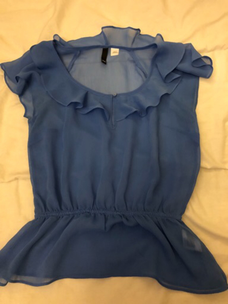 Used Sheer comfortable Blue Blouse Flowy in Dubai, UAE
