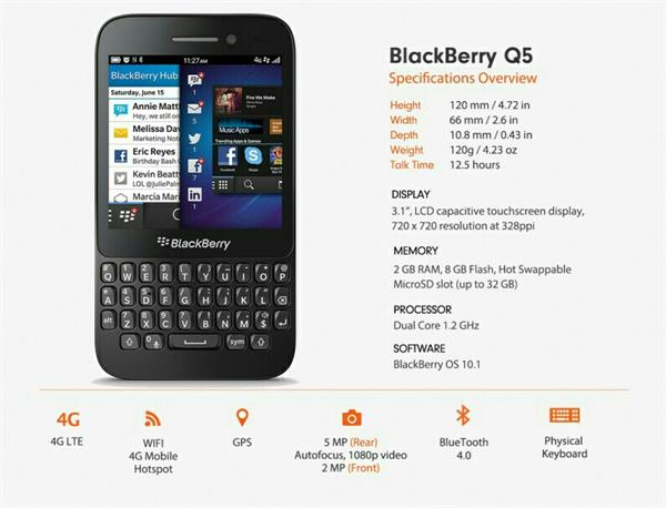 Used Hi I'm Selling 🎁BLACKBERRY Q5🎁 Smartphone UUsed. Only Mobile, Not Available Accessory.🌹 in Dubai, UAE
