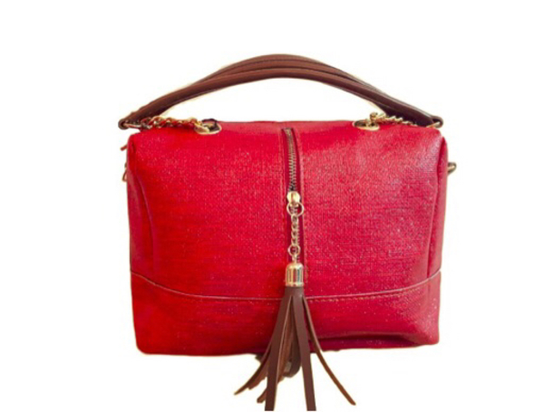 new luxuary red shoes and handbag set