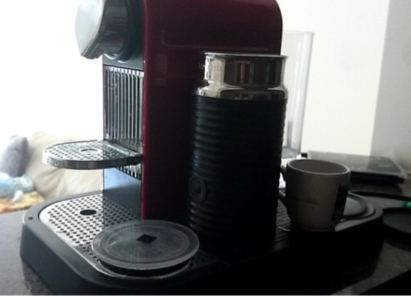 Used Nespresso Coffee Machine with Frother  in Dubai, UAE