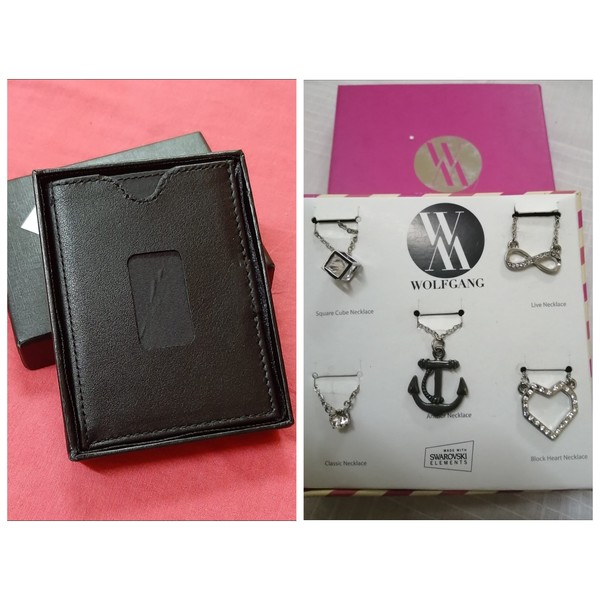 Used Boxed sets of 5 Necklaces & card holders in Dubai, UAE