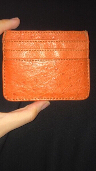 Used Ostrich Skin Card holder wallet in Dubai, UAE