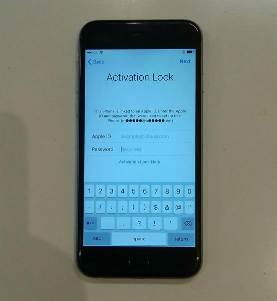 Used ICloud Lock Iphone 6 Memory 64 GB Silver Edition, Little Scratch Back But Condition Good.   in Dubai, UAE