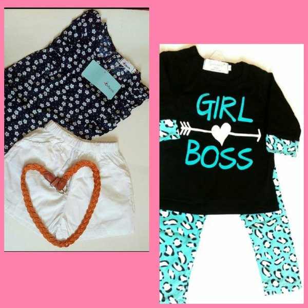 Used Toddler baby girl's 2 outfits👩😍 in Dubai, UAE