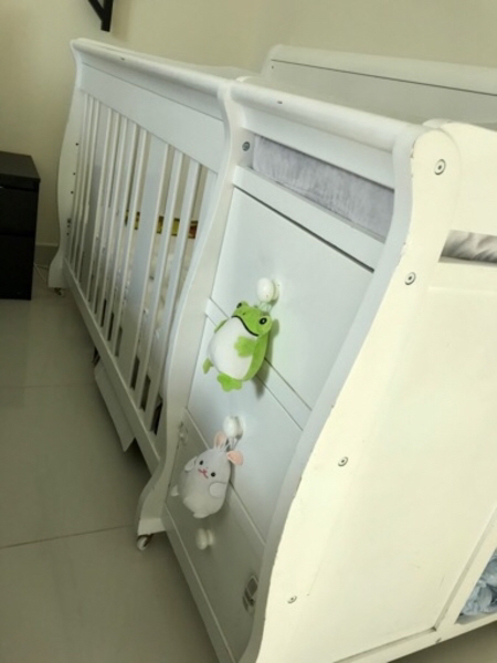 Used Baby Crib (white) in Dubai, UAE