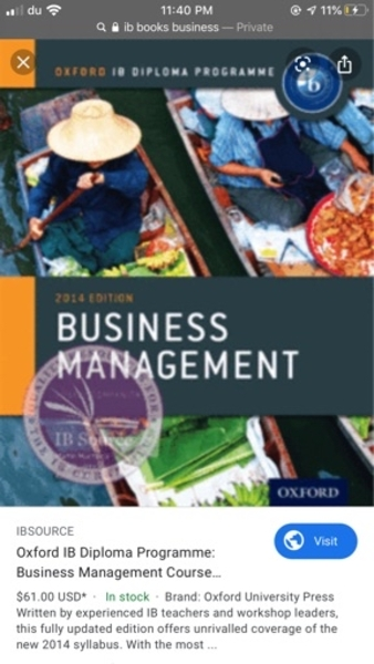 Used IB BUSINESS BOOK in Dubai, UAE