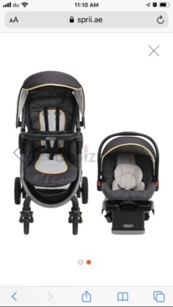 Used Stroller with infant car seat in Dubai, UAE