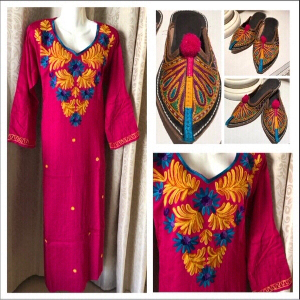 Used Dress S & handmade sandals 8 in Dubai, UAE