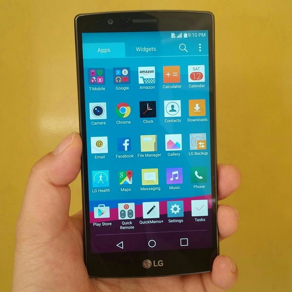 """Used LG G4 Black Leather Feather 32 GB 3 GB Ram """" Made in Korea"""" By T-Mobile, Only Mobile, Fixed Price. in Dubai, UAE"""