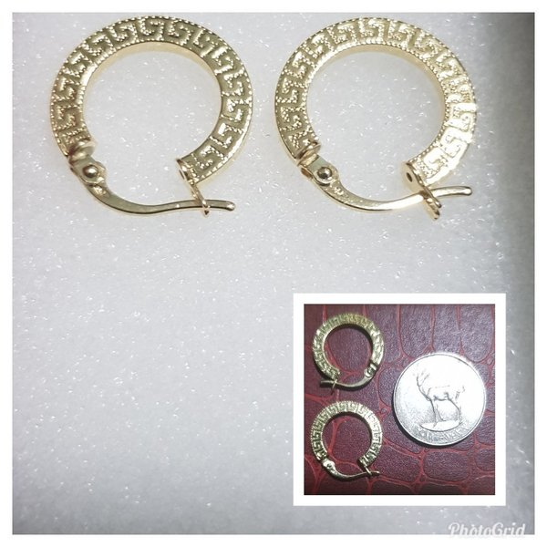 Used Pair of Earrings- 18K Italian Gold in Dubai, UAE