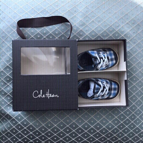 Used Cole Haan Baby Boy Plaid Shoes, Brand New, Size 2 Toddler in Dubai, UAE