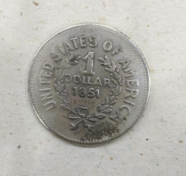 Used USA old coin dollar (1851) in Dubai, UAE