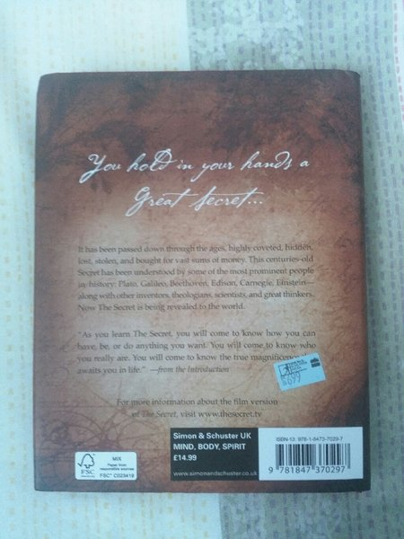 The Secret, Rhonda Byrne - Book