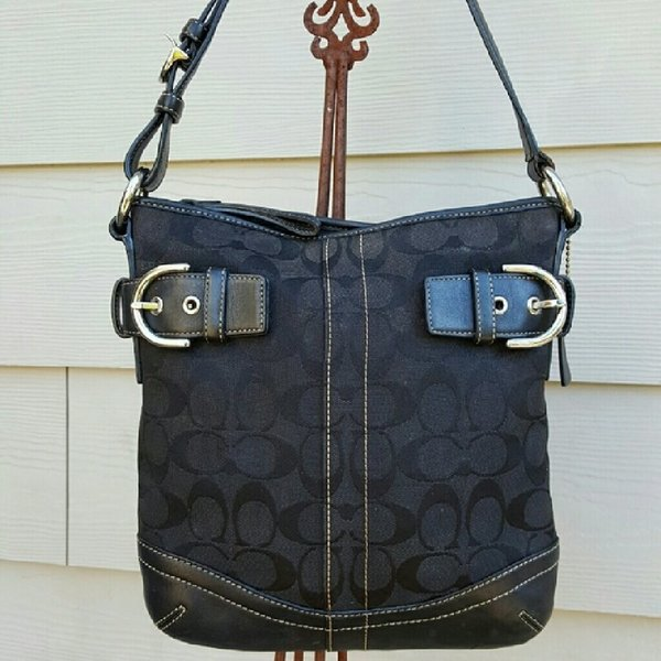 Authentic coach bag black