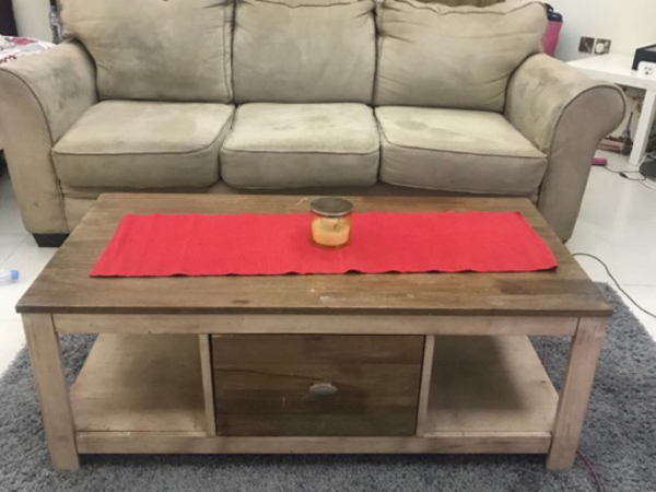 Used Couch and Coffe Table from THE One   in Dubai, UAE