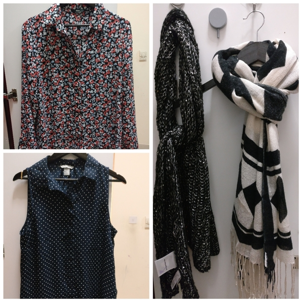 Used Silk and chiffon blouse with scarves in Dubai, UAE